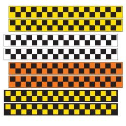 Магнитные наклейки ШАШКИ, 60х6, 2 шт.
