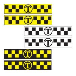 """Магнитные наклейки ШАШКИ с буквой """"Т"""", 30х6, 2 шт."""