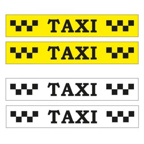 """Магнитные наклейки """"TAXI"""" с шашками, 60х10, 2 шт."""